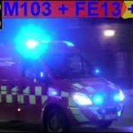 3X hovedstadens beredskab ST.T TRAFIKULYKKE brandbil i udrykning Feuerwehr auf Einsatzfahrt 緊急走行 消防車