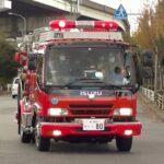 消防車緊急走行【95】堺市消防局・西消防署タンク車【Japanese fire enjine】201129 14
