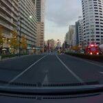 渋滞に巻き込まれる消防車 A fire truck caught in a traffic jam
