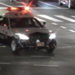 所轄パトカー 緊急走行 美しいドライビングとサイレンで違反車両を検挙 Police car emergency driving Arrested violating vehicle