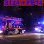 hovedstadens beredskab ST.V BRAND SKUR brandbil i udrykning Feuerwehr auf Einsatzfahrt 緊急走行 消防車