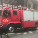 市内で勤務中の消防車
