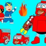 はたらくくるまのうた♪緊急車両ロボットが出動♪パトカーや消防車や救急車がロボットに?歌とアニメのつーちゃんとボビーくん♪