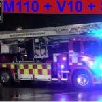 hovedstadens beredskab ST.HV ABA PLEJEHJEM brandbil i udrykning Feuerwehr auf Einsatzfahrt 緊急走行 消防車