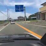 (クルマ)これぞ右に左にベタベタ煽り運転。福岡、筑豊