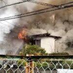 【緊急走行】建物火災現場到着!北九州市消防局ポンプ車&北九州市警察部機動警察隊パトカー