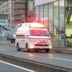府中町消防署 救急1が、イオンモール広島府中(ソレイユ)から救急搬送
