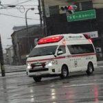 【金沢市消防局 】 緊急走行する救急車。車がなかなか停まってくれない。