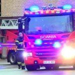 beredskab øst falck ST.GT ABA SKOLE brandbil i udrykning Feuerwehr auf Einsatzfahrt 緊急走行 消防車