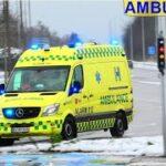 falck AMBULANCE A19 fanget på ring4 ballerup i udrykning rettungsdienst auf Einsatzfahrt 緊急走行 救急車