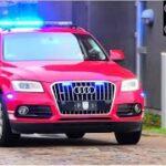 tårnby brandvæsen ABA LUFTHAVNEN brandbil i udrykning Feuerwehr auf Einsatzfahrt 緊急走行 消防車