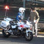 白バイがスピード違反車を捕まえた絶妙のタイミングで消防車が緊急出場するもんだから取締りが一際華やかに見えた瞬間!ややカオスです!