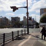 沖縄市胡屋十字路 県警覆面パトカー緊急走行自ら隊警らパトカー