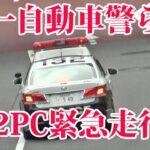 交通違反の取締はしない第一自動車警ら隊132パトカー!応援か?赤灯回し緊急走行で去って行く