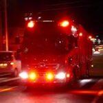 PA連携に向かう川越地区消防局の化学消防車