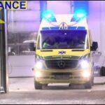 falck SLAGELSE AMBULANCE 3900 i udrykning rettungsdienst auf Einsatzfahrt 緊急走行 救急車