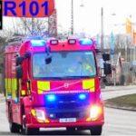 hovedstadens beredskab ST.C ABA ERHVERV brandbil i udrykning fire trucks respond 緊急走行 消防車
