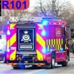 hovedstadens beredskab ST.C ABA PARKEINGSKÆLDER brandbil i udrykning fire trucks respond 緊急走行 消防車