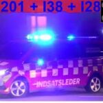 hovedstadens beredskab ST.H BRAND LEJLIGHED brandbil i udrykning Feuerwehr auf Einsatzfahrt 緊急走行 消防車