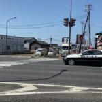 新潟県警察 180系クラウンパトカー 緊急走行