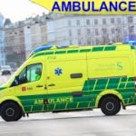 falck AMBULANCE 3875 fanget på tagensvej i udrykning rettungsdienst auf Einsatzfahrt 緊急走行 救急車