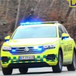 region hovedstaden LÆGEBIL L06 i fredensborg ambulance i udrykning notarzt einsatzfahrt 緊急走行 救急車