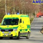 FALCK SLAGELSE AMBULANCE 3825 i udrykning rettungsdienst auf Einsatzfahrt 緊急走行 救急車