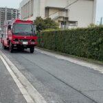広島西ISUZU救助工作車緊急走行