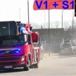 etk brand og redning falck LELLINGE BRAND VILLA brandbil i udrykning fire truck respond 緊急走行 消防車