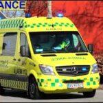 falck LYNGBY AMBULANCE A25 ambulance i udrykning rettungsdienst auf Einsatzfahrt 緊急走行 救急車