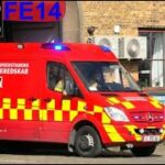 hovedstadens beredskab ST.V ABA HOSPITAL brandbil i udrykning Feuerwehr auf Einsatzfahrt 緊急走行 消防車