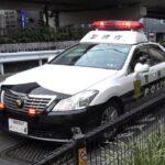 停止線を超えた瞬間、パトカーが威嚇のサイレン音!ミニバン運転手は気付けずサイレン音全開の警察に捕まる&お巡りさんカットインあり!