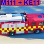 AIRVIEW hovedstadens beredskab ST.GO KEMIUHELD brandbil i udrykning fire truck respond 緊急走行 消防車