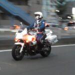 白バイ 緊急走行 違法左折車両を検挙する瞬間 Emergency driving. Police motorcycle
