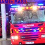 beredskab øst falck ST.BA ABA ERHVERV brandbil i udrykning Feuerwehr auf Einsatzfahrt 緊急走行 消防車