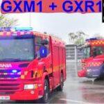 beredskab øst falck ST.GX TRAFIK FASTKLEMTE LASTBIL brandbil i udrykning fire truck respond 緊急走行 消防車