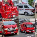 【緊急車両】まるで昔に消防車がタイムスリップ 今井町で火事まとめ