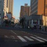 函館市消防本部の救急車の緊急走行