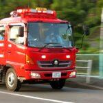 広島都市高速に救急活動支援のため消防車が出動 2021年7月11日