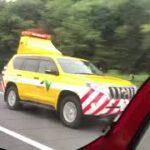 ネクスコ東日本高速道路パトカー緊急走行!サイレン全開走行, パトカーサイレン走行🚨 #NEXCO highway patrol land cruiser Prado