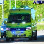 falck AMBULANCE 3825 fanget i korsør i udrykning rettungsdienst auf Einsatzfahrt 緊急走行 救急車