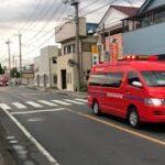 緊急走行!2台車列で緊走する足利消防の指揮車とポンプ車(指揮1・中央ポンプ1)