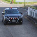 新潟県警察 交通機動隊 210系クラウン覆面パトカー 緊急走行