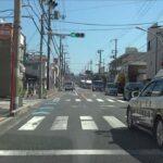 【POLICE】事件発生場所に緊急走行する所轄パトカー…
