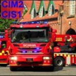 østjyllands brandvæsen ST.CI ABA PLEJEHJEM brandbil i udrykning Feuerwehr auf Einsatzfahrt 緊急走行 消防車