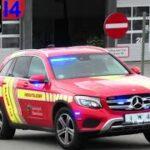 sydvestjysk brandvæsen VARDE ABA INDUSTRI brandbil i udrykning Feuerwehr auf Einsatzfahrt 緊急走行 消防車