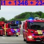 sydvestjysk brandvæsen falck ESBJERG ABA BEBOELSE  brandbil i udrykning fire trucks respond 緊急走行 消防車