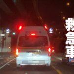 どれだけ急いでも制限速度は守る緊急走行中の救急車🚑