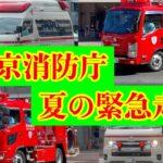【緊急走行集】東京消防庁 2021年夏の緊急走行 消防車 救急車