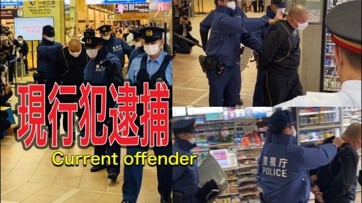 逮捕 現行犯逮捕の瞬間!警察 警察24時 新宿 新宿駅!偶然遭遇した。